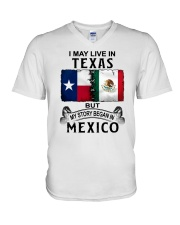 LIVE IN TEXAS BEGAN IN MEXICO V-Neck T-Shirt thumbnail