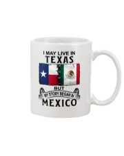 LIVE IN TEXAS BEGAN IN MEXICO Mug tile