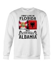LIVE IN FLORIDA BEGAN IN ALBANIA Crewneck Sweatshirt thumbnail