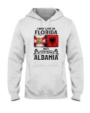 LIVE IN FLORIDA BEGAN IN ALBANIA Hooded Sweatshirt thumbnail