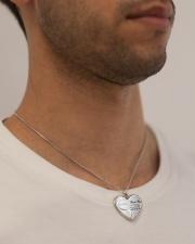 PUERTO RICO YOUR HEART WILL ALWAYS BE Metallic Heart Necklace aos-necklace-heart-metallic-lifestyle-2