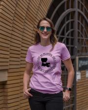 OKLAHOMA GIRL LIVING IN A LOUISIANA WORLD Ladies T-Shirt lifestyle-women-crewneck-front-2