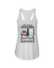 LIVE IN CALIFORNIA BEGAN IN GUATEMALA Ladies Flowy Tank thumbnail