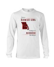 HAWAII GIRL LIVING IN MISSOURI WORLD Long Sleeve Tee thumbnail