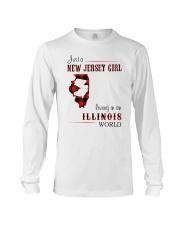 JERSEY GIRL LIVING IN ILLINOIS WORLD Long Sleeve Tee thumbnail
