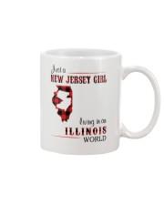 JERSEY GIRL LIVING IN ILLINOIS WORLD Mug thumbnail