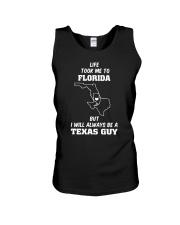 LIFE TOOK TO FLORIDA ALWAYS BE TEXAS GUY Unisex Tank thumbnail