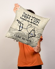 """MAINE FLORIDA THE LOVE MOM AND SON Indoor Pillow - 16"""" x 16"""" aos-decorative-pillow-lifestyle-front-02"""