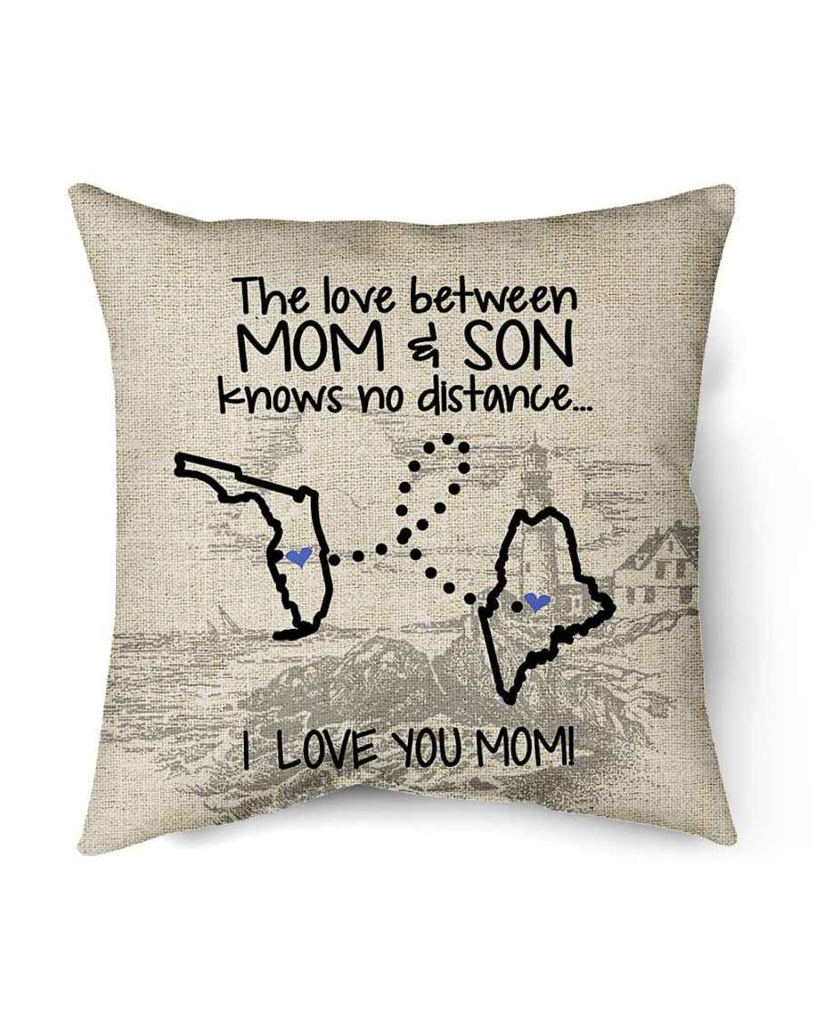 """MAINE FLORIDA THE LOVE MOM AND SON Indoor Pillow - 16"""" x 16"""""""