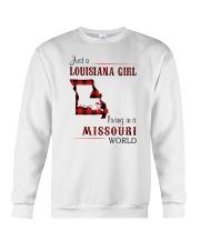 LOUISIANA GIRL LIVING IN MISSOURI WORLD Crewneck Sweatshirt thumbnail