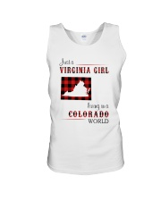 VIRGINIA GIRL LIVING IN COLORADO WORLD Unisex Tank thumbnail