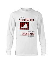 VIRGINIA GIRL LIVING IN COLORADO WORLD Long Sleeve Tee thumbnail