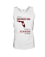 ARKANSAS GIRL LIVING IN FLORIDA WORLD Unisex Tank thumbnail