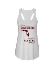 ARKANSAS GIRL LIVING IN FLORIDA WORLD Ladies Flowy Tank thumbnail