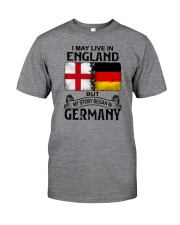 LIVE IN ENGLAND BEGAN IN GERMANY Classic T-Shirt tile