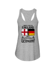 LIVE IN ENGLAND BEGAN IN GERMANY Ladies Flowy Tank thumbnail