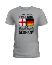LIVE IN ENGLAND BEGAN IN GERMANY Ladies T-Shirt thumbnail