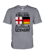LIVE IN ENGLAND BEGAN IN GERMANY V-Neck T-Shirt thumbnail