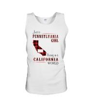 PENNSYLVANIA GIRL LIVING IN CALIFORNIA WORLD Unisex Tank thumbnail