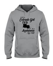 JUST A COLORADO GIRL IN A LOUISIANA WORLD Hooded Sweatshirt thumbnail