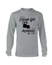 JUST A COLORADO GIRL IN A LOUISIANA WORLD Long Sleeve Tee thumbnail
