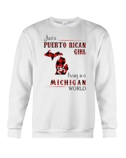 PUERTO RICAN GIRL LIVING IN MICHIGAN WORLD Crewneck Sweatshirt thumbnail