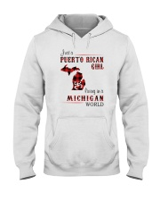 PUERTO RICAN GIRL LIVING IN MICHIGAN WORLD Hooded Sweatshirt thumbnail
