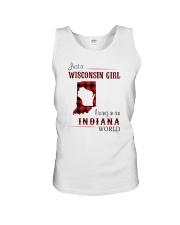 WISCONSIN GIRL LIVING IN INDIANA WORLD Unisex Tank thumbnail