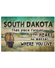 SOUTH DAKOTA THAT PLACE FOREVER IN YOUR HEART Horizontal Poster tile