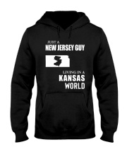 JUST A JERSEY GUY LIVING IN KANSAS WORLD Hooded Sweatshirt thumbnail