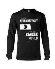 JUST A JERSEY GUY LIVING IN KANSAS WORLD Long Sleeve Tee thumbnail