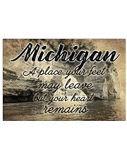 MICHIGAN A PLACE YOUR HEART REMAINS 24x16 Poster front