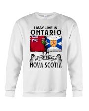 LIVE IN ONTARIO BEGAN IN NOVA SCOTIA Crewneck Sweatshirt thumbnail