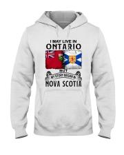 LIVE IN ONTARIO BEGAN IN NOVA SCOTIA Hooded Sweatshirt thumbnail
