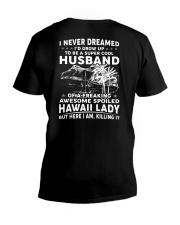 AWESOME SPOILED HAWAII LADY V-Neck T-Shirt thumbnail