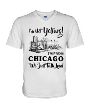 I'M NOT YELLING I'M FROM CHICAGO V-Neck T-Shirt thumbnail