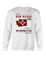 NEW MEXICO GIRL LIVING IN WASHINGTON WORLD Crewneck Sweatshirt thumbnail
