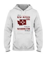 NEW MEXICO GIRL LIVING IN WASHINGTON WORLD Hooded Sweatshirt thumbnail