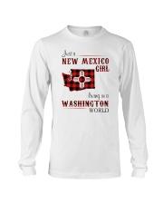 NEW MEXICO GIRL LIVING IN WASHINGTON WORLD Long Sleeve Tee thumbnail