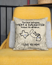 """MICHIGAN TEXAS THE LOVE MOM AND DAUGHTER Indoor Pillow - 16"""" x 16"""" aos-decorative-pillow-lifestyle-front-01"""