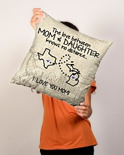 """MICHIGAN TEXAS THE LOVE MOM AND DAUGHTER Indoor Pillow - 16"""" x 16"""" aos-decorative-pillow-lifestyle-front-02"""