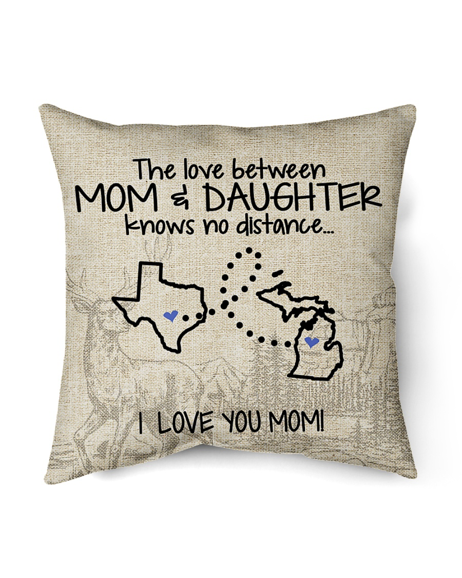 """MICHIGAN TEXAS THE LOVE MOM AND DAUGHTER Indoor Pillow - 16"""" x 16"""""""