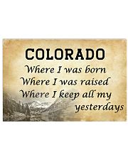 COLORADO WHERE I KEEP ALL MY YESTERDAYS 17x11 Poster front