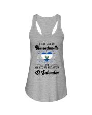 LIVE IN MASSACHUSETTS BEGAN IN EL SALVADOR HEART Ladies Flowy Tank thumbnail