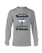 LIVE IN MASSACHUSETTS BEGAN IN EL SALVADOR HEART Long Sleeve Tee thumbnail