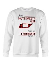 SOUTH DAKOTA GIRL LIVING IN TENNESSEE WORLD  Crewneck Sweatshirt thumbnail