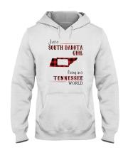 SOUTH DAKOTA GIRL LIVING IN TENNESSEE WORLD  Hooded Sweatshirt thumbnail