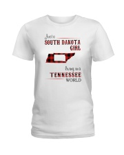 SOUTH DAKOTA GIRL LIVING IN TENNESSEE WORLD  Ladies T-Shirt thumbnail