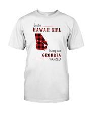 HAWAII GIRL LIVING IN GEORGIA WORLD Classic T-Shirt front