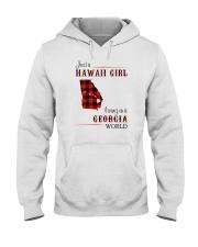 HAWAII GIRL LIVING IN GEORGIA WORLD Hooded Sweatshirt thumbnail